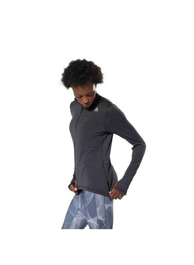 Reebok Runnıng Essentıals Yarım Fermuarlı Sweatshırt Siyah